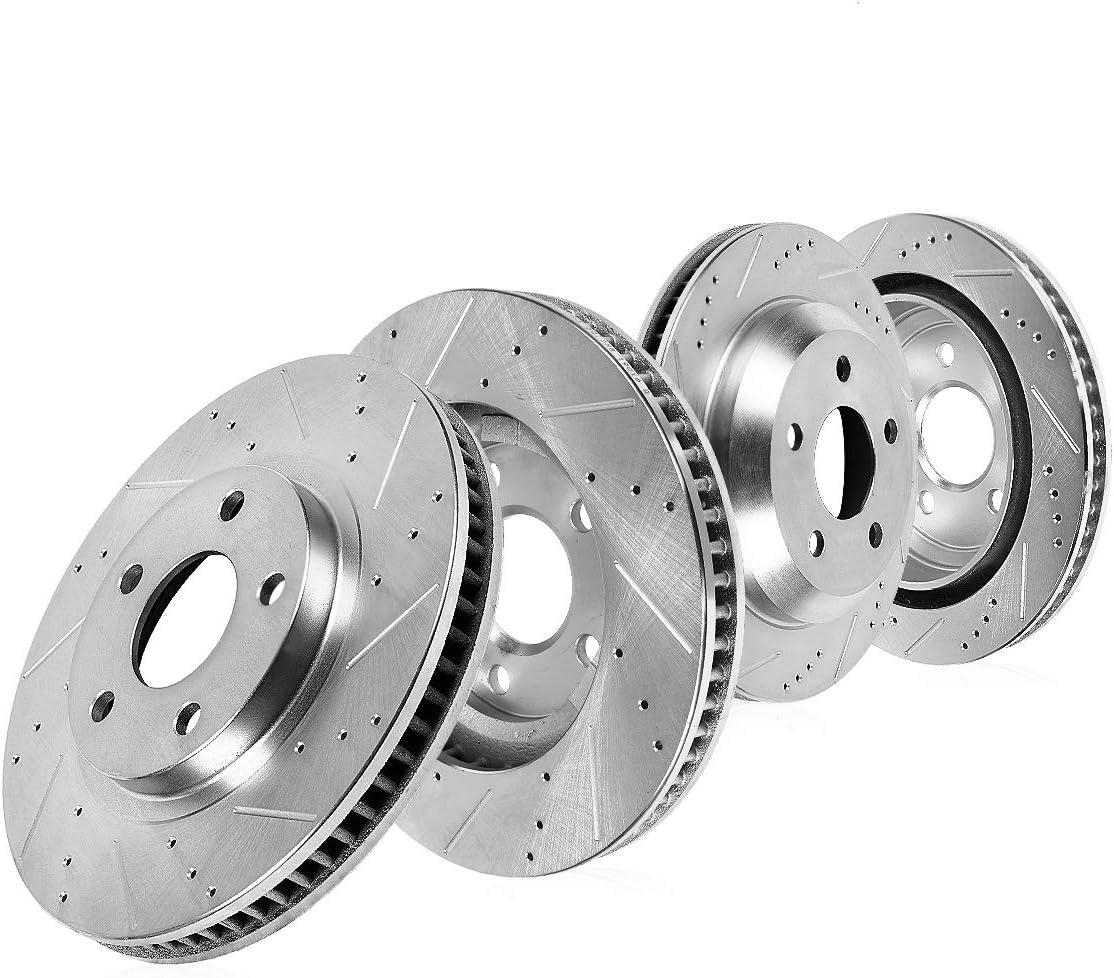 Callahan CDS03879 FRONT 329.92mm 高品質 + REAR 330.32mm D 激安セール S R 5 Lug 4