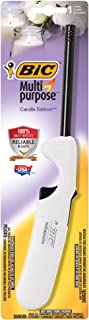 BIC Multi-Purpose Candle Edition Lighter, White, 1-Pack
