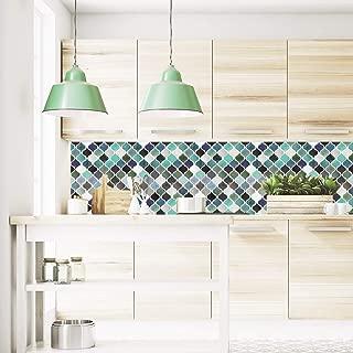 FARONZE Arabesque Mosaic Wall Tiles Peel and Stick DIY Backsplash Wall Tiles for Kitchen and Bathroom 10