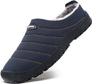 Mishansha Zapatillas de Exterior Pantuflas con Forro Cálido para Hombre Mujer Gr.35-46