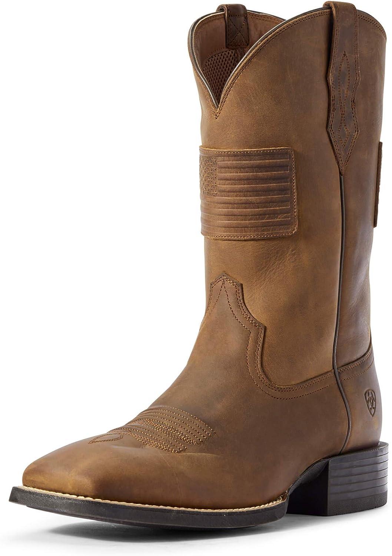 ARIAT Men's Max 87% OFF Sport Patriot Toe Boot Western Square New life