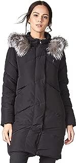 Escalier Women's Down Jacket with Fox Fur Hooded Winter Parka Coat