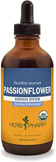 Herb Pharm Certified Organic Passionflower Liquid Extract for Mild and Occasional Anxiety - 4 Ounce