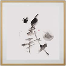 Justice by Gu Yunrui, Chinese Calligraphy Print. Limited, Signed Edition, Printed on Rice Paper, Premium Solid Wood Frame, Size 33