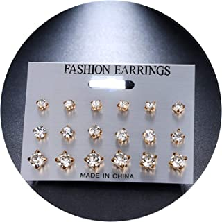 So Beautiful Earing For Women Men 12Pairs/Set Simulated Pearl Earrings For Women Jewelry Pendientes