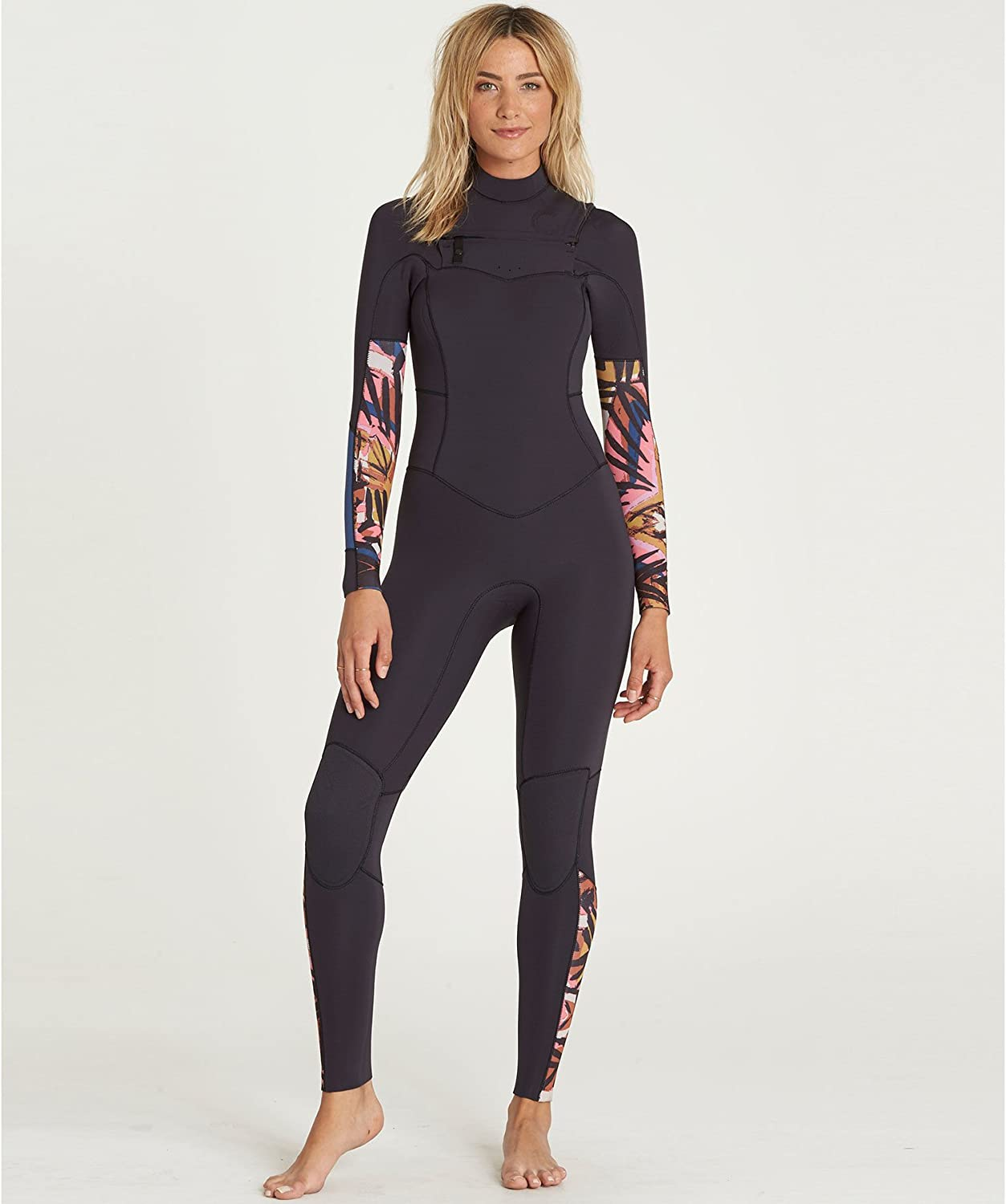 BILLABONG Womens Salty Daze 5 4MM Winter Cold Water Winter Cold Weather Chest Zip Wetsuit Tribal  Easy Stretch Thermal Lining