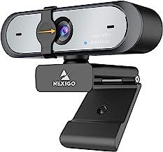60FPS AutoFocus 1080P Webcam with Dual Microphone & Privacy Cover, 2021 NexiGo N660P Pro HD USB Computer Web Camera, for O...