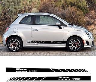 for FIAT 500 500x HLLebw Auto Seitenstreifen Seitenaufkleber Aufkleber