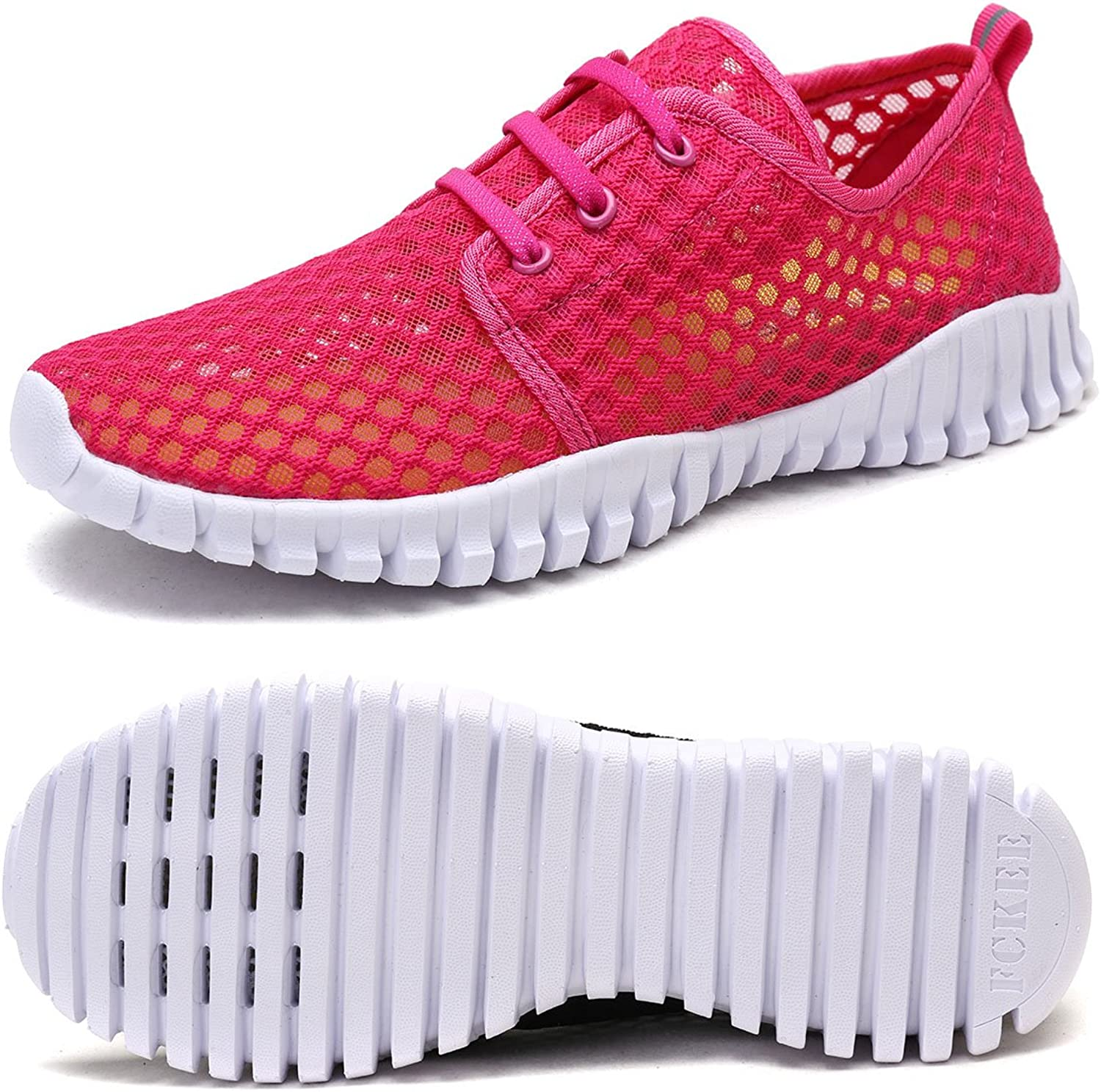 FCKEE Water shoes Slip-On Barefoot Lightweight Mesh Sport Running shoes Casual Sneaker Quick-Dry Drainage Durable Sole Women Men