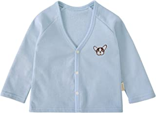 Toddler Unisex Baby Cardigan Cartoon Cotton V-Neck Button Outfit Spring Autumn Jacket