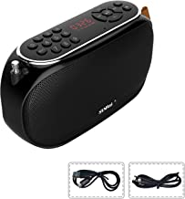 SUNhai Wireless Bluetooth Portable Speaker J19 Outdoor, FM Radio, Micro SD Card, for Home, Office, Party and Travel-Black