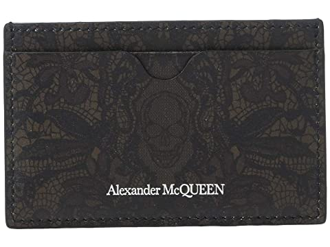 Alexander McQueen Lace Print Card Holder