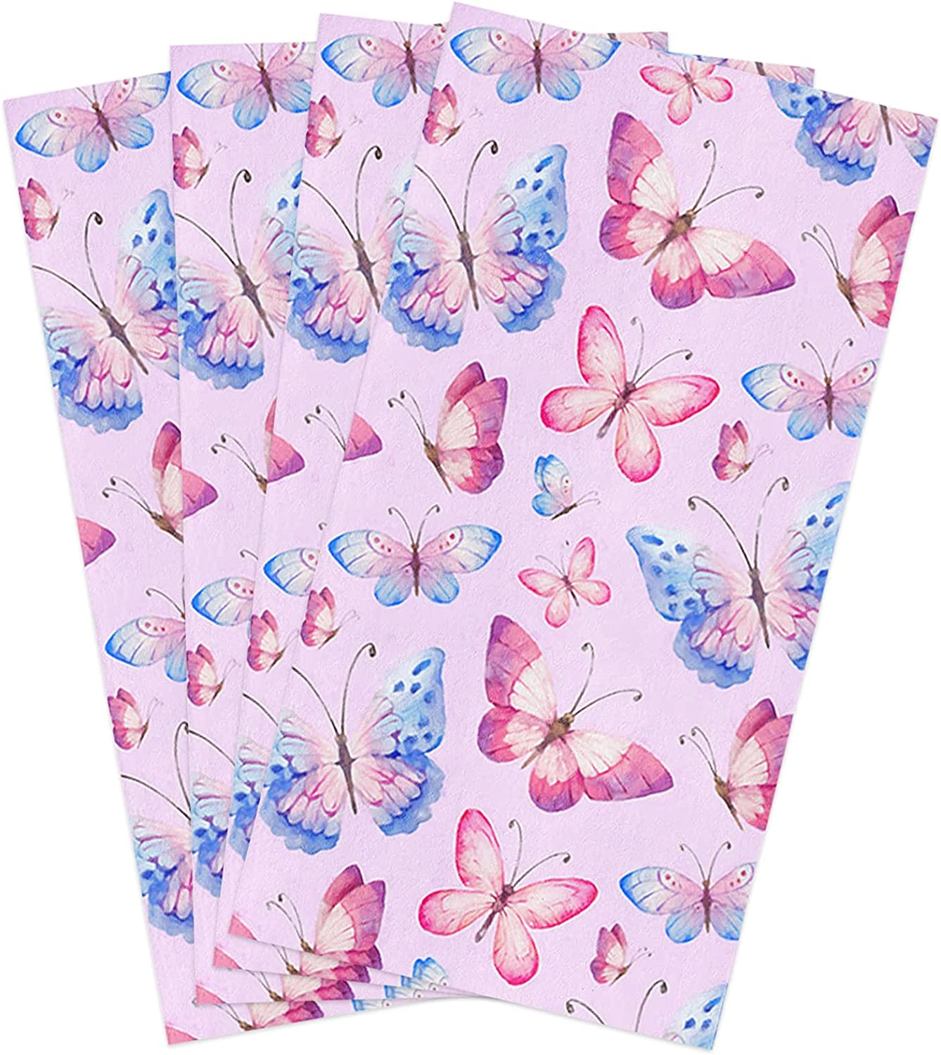 Zadaling 代引き不可 Kitchen Towels Butterfly Watercolor Inches 全店販売中 Soft D 18x28