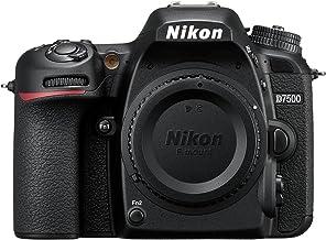 كاميرا نيكون D7500 من دون عدسة - 20.9 ميجابكسل، 4 كيه، كاميرا عاكسة مفردة العدسة، اسود