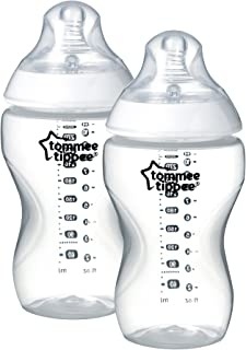 Tommee Tippee Feeding Bottles, 340ml (Pack of 2), Clear