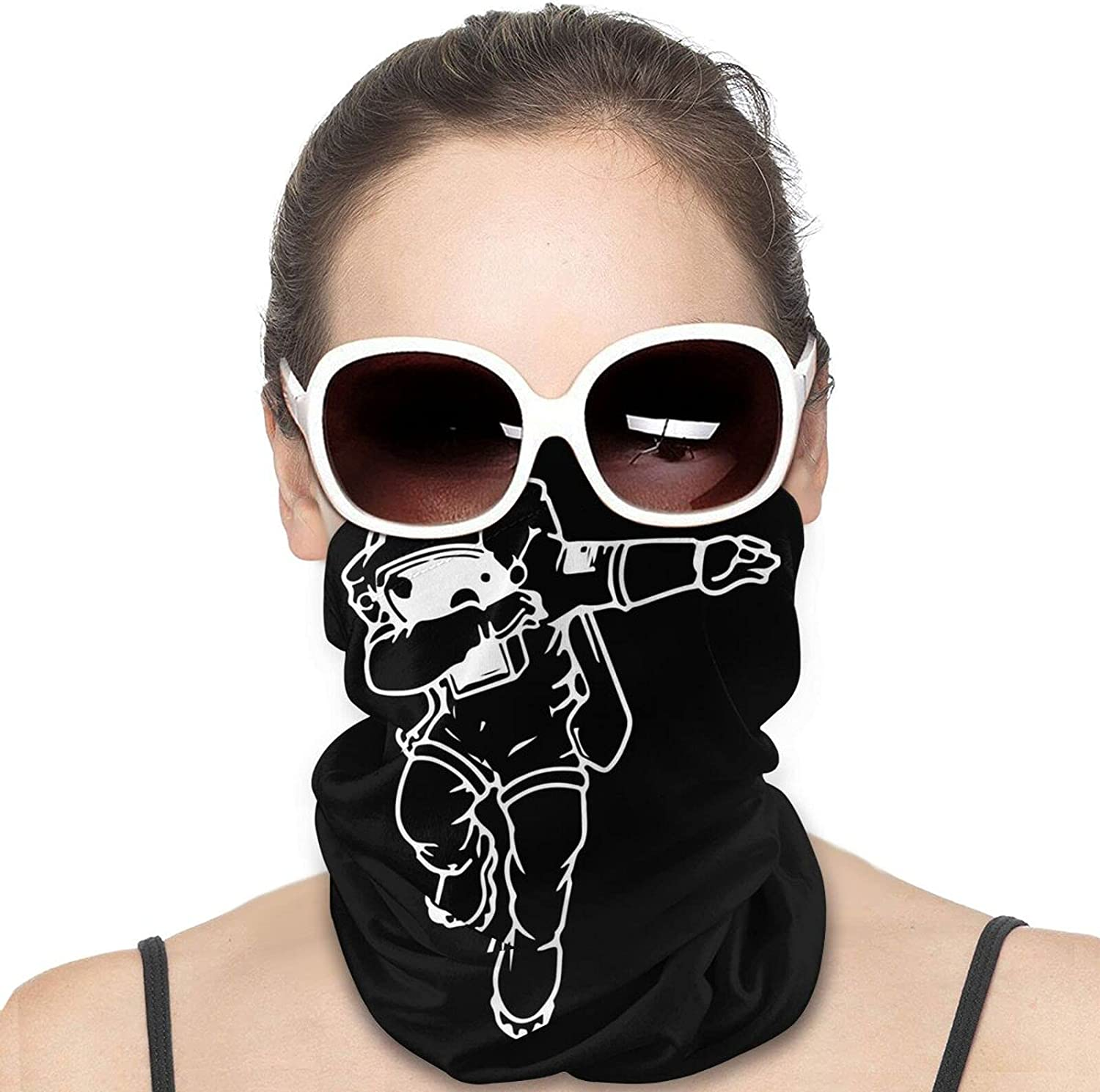 Dabbing Astronaut Round Neck Gaiter Bandnas Face Cover Uv Protection Prevent bask in Ice Scarf Headbands Perfect for Motorcycle Cycling Running Festival Raves Outdoors
