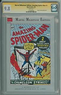 MARVEL MILESTONE EDITION: AMAZING SPIDER-MAN #1 CGC 9.8 WHITE PAGES
