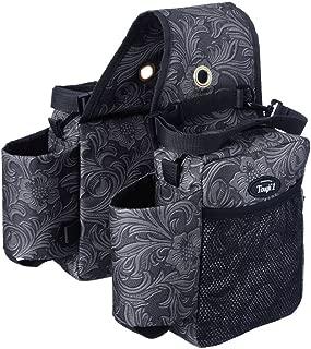 Tough-1 Printed Saddle Bag Black Tooled