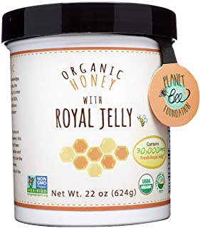 GREENBOW Organic Honey w/ Fresh Royal Jelly - 100% USDA Certified Organic, Gluten Free, Non-GMO - Highest Quality Whole Fo...