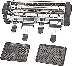 NHJUIJ Raclette Plaque De Gril Antiadhésive Amovible 4 Raclette Poêlons Et Spatule pour Un Nettoyage Facile Sain Et Moins ...