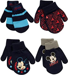 Boys 4 Pack Mitten or Glove Mickey Mouse, Cars Lighting...