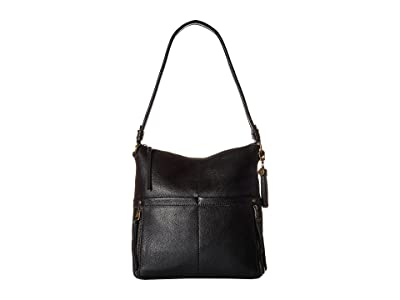 The Sak Suri Zip Top Bucket The Sak Collective (Black) Handbags