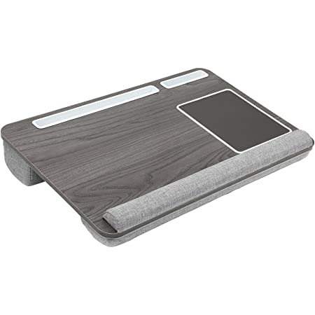 """HUANUO Laptop Tray, Lap Desk for Laptop, Laptop Cushion, Laptop Stand for Bed, with Built in Mouse Pad & Wrist Pad for Notebook up to 17"""" with Tablet & Phone Holder"""