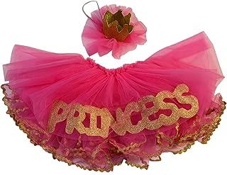 Maxine by Max Daniel Designs Pink & Gold Tutu Set, Princess Skirt and Glitter Crown