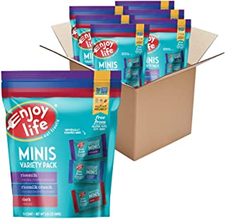 Enjoy Life Mini Chocolate Candy Variety Pack, Nut Free, Soy Free, Dairy Free Chocolate, 6 Packs