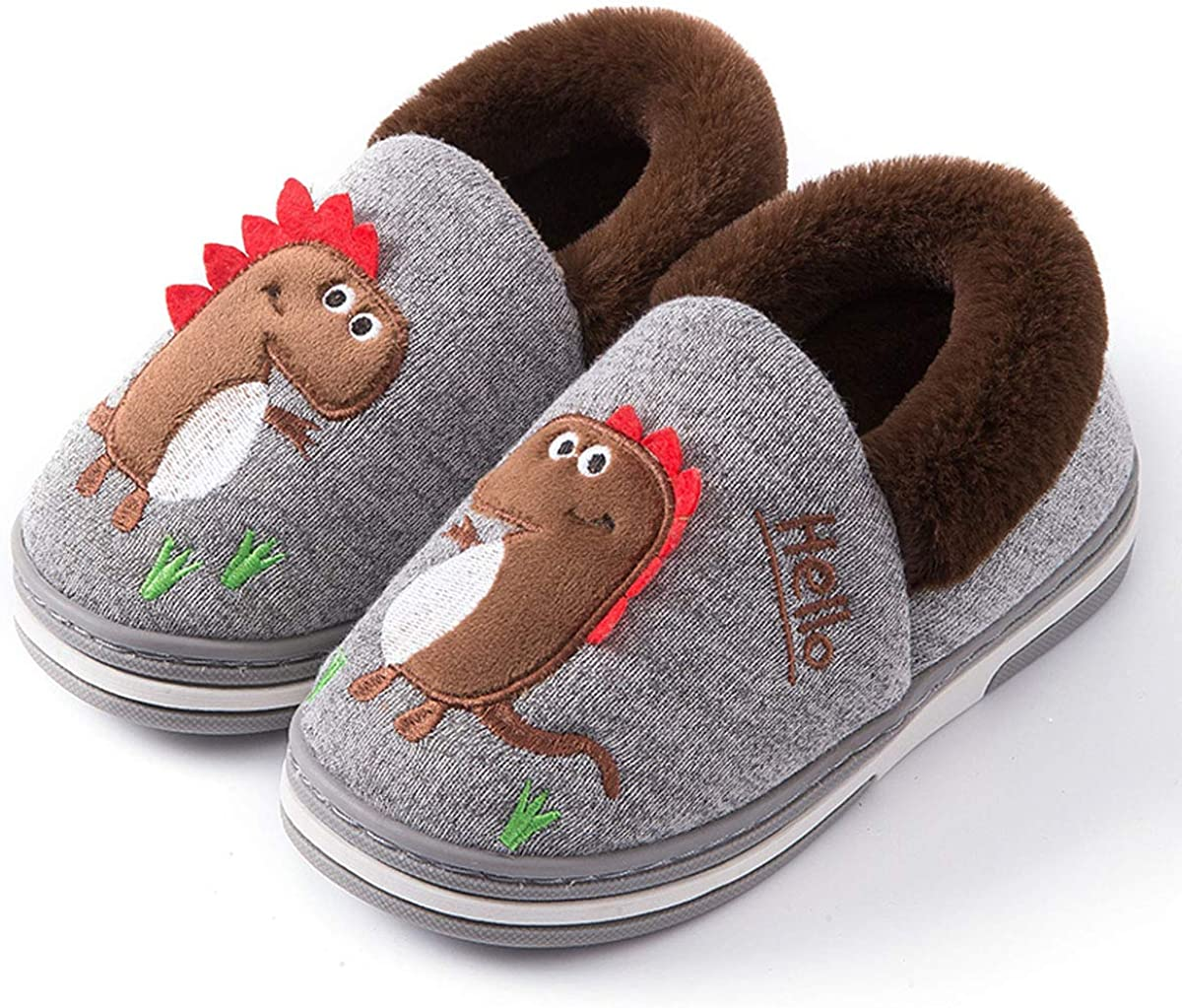 Kitulandy Girls Boys Slippers Warm Kids Max 45% OFF House Cozy Winter 2021new shipping free Cotton
