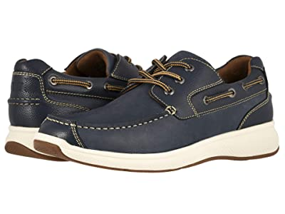 Florsheim Great Lakes Moc Toe Oxford (Indigo Smooth w/ Milled) Men