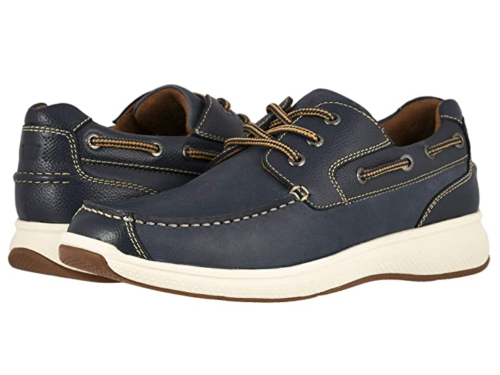 Florsheim  Great Lakes Moc Toe Oxford (Indigo Smooth with Milled) Mens Shoes