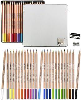 مدادهای رنگی آبرنگ COLOR BLOCK 24 با دسته سرو