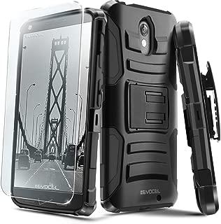 Droid Turbo 2 Case, Evocel [Generation Series] Belt Clip Holster, Kickstand, HD Screen Protector, Dual Layer for Motorola Droid Turbo 2 (XT1585/ 2015 Release), Black (EVO-MOTXT1585-AB201)