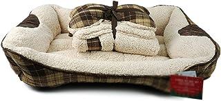 بيت وبيت وكنبة وسرير وسرير وبيت للكلاب والقطط والكلاب والجراء مقاس 160 سم × 50 سم × 17 سم.