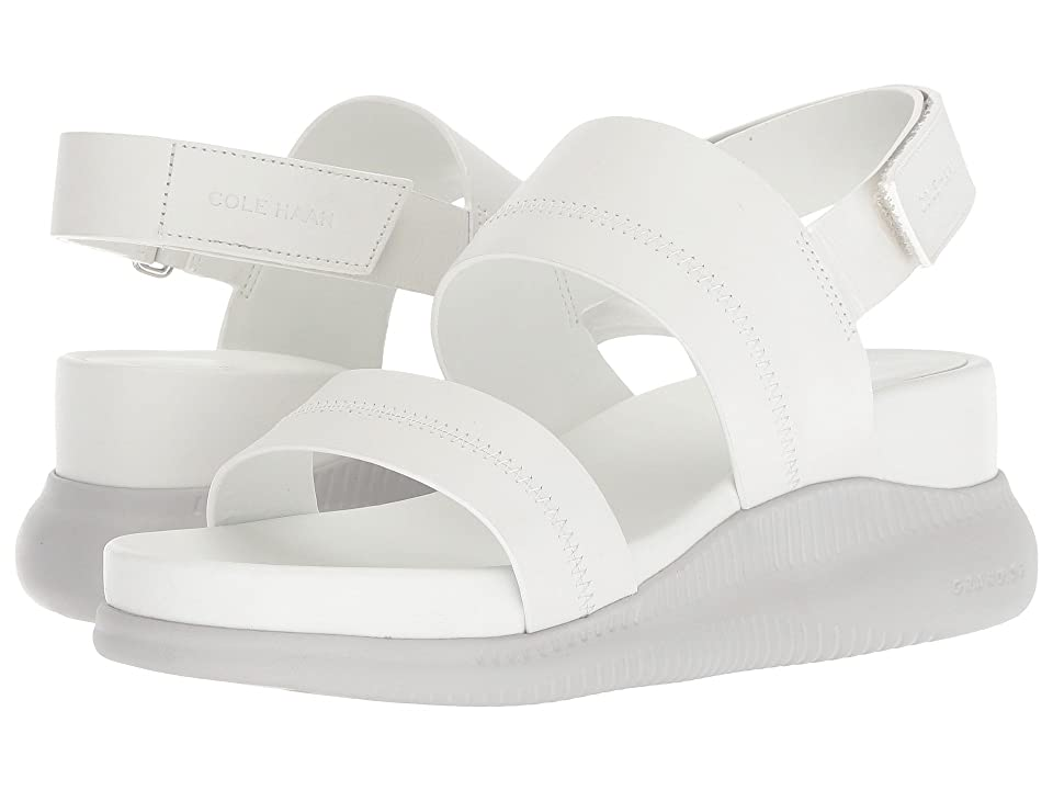 Cole Haan 2.Zerogrand Slide Sandal (Chalk Leather/Vapor Grey) Women