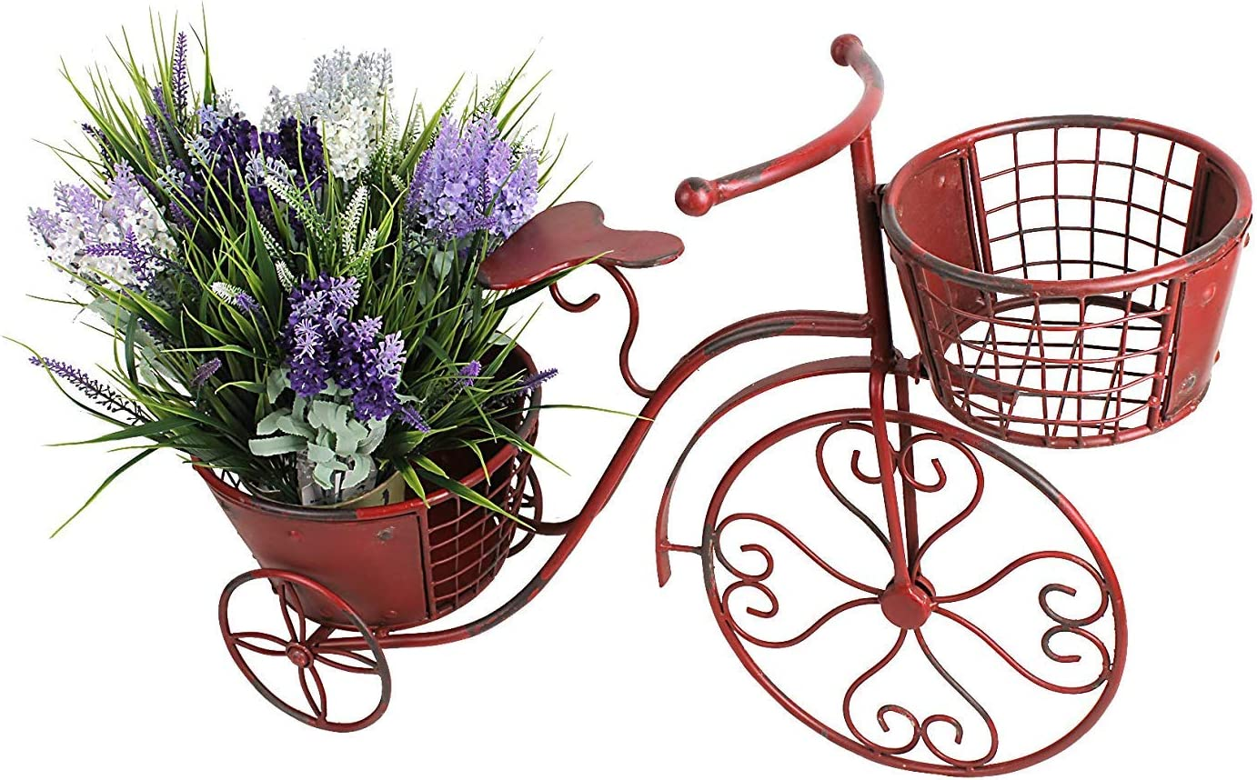 Ranking TOP18 Tricycle Plant Stand Bicycle Iron Po Inventory cleanup selling sale Planter Flower