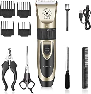 POPOY Pet Dog Electric Hair Clipper Low Noise Cordless Rechargeable Profession Fast Cutting