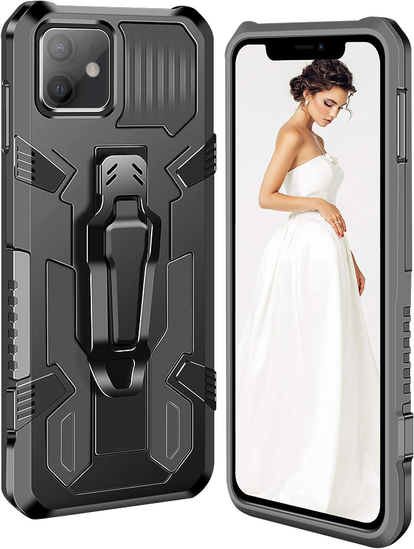 Pour t/él/éphone portable iPhone 12 6.1 Coque de protection antichoc /à 360/° ruiyoupin Compatible avec iPhone 12 Coque magn/étique en silicone TPU PC Coque rigide pour iPhone 12