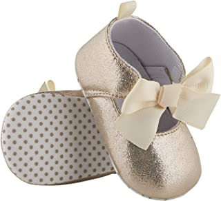 Stephan Baby Twinkle Toes Party Shoe-Style Foot Finders, Gold Metallic, Fits 6-12 Months