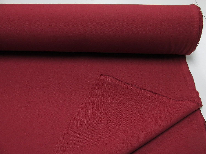 Tejido loneta Lisa N/º 133 Rojo Burdeos con Ancho 2,80 MTS. Confecci/ón Saymi Metraje 0,50 MTS