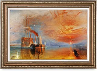 DECORARTS - The Fighting Temeraire by William Turner. The World Classic Art Reproductions. Giclee Prints& Museum Quality Framed Art for Wall Decor. Framed Size: 25x35