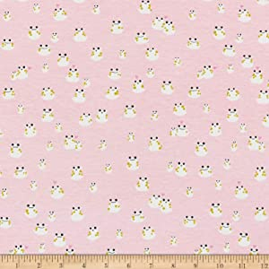 Cotton + Steel Front Yard Jersey Knit Frogs Fabric, Pink, Fabric By The Yard