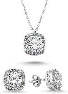 Women's Jewelry Sets - 925 Sterling Silver Plated Earring...