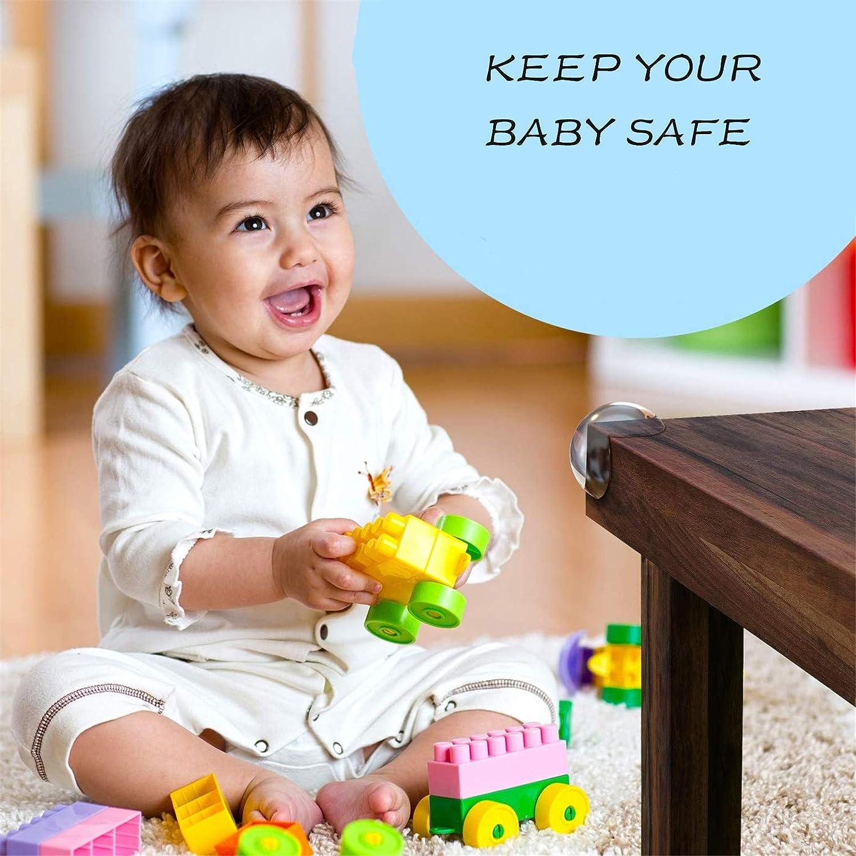 Baby Proofing Furniture Corner Bumpers Corner Protectors for Kids Baby Safety Table Corner Protectors Clear Corner Guards Soft Child Safety Desk Corner Protector 12 PCS+ 3 Safety Locks