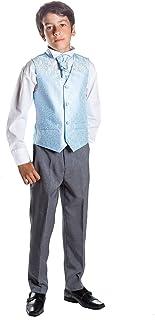 Costume Gilet Costume de Mariage gar/çons Costume Formel Pantalon Gris Paisley of London gar/çon dhonneur Costume