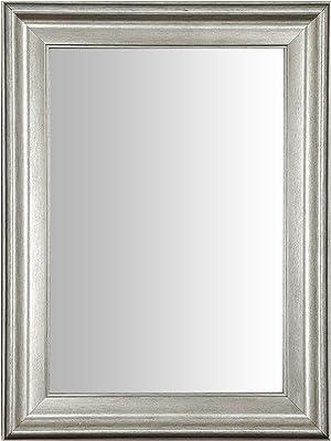999Store Fiber Framed Decorative Wall Mirror or Bathroom Mirror Silver (24x18 Inches)