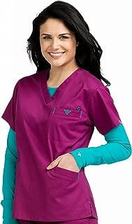 Med Couture Signature Women's V-Neckline 3 Pocket Scrub Top