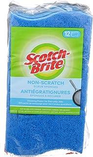 Scotch-Brite Scrub Sponge, 12 Pack, Non Scratch, Multipurpose, Kitchen Scrubber, Scour Sponge