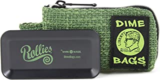 Dime Bags Rollies All-In-One Padded Pouch - Padded Bag w/Rolling Tray & Smell Proof Pocket